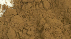 4K Cocoa Powder Raw Stock Footage