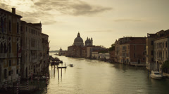 WS Grand Canal at dusk / Venice,Italy Stock Footage