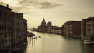 Stock Video Footage of WS Grand Canal at dusk / Venice,Italy