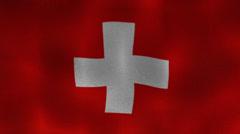 Switzerland Flag Textile Stock Footage