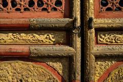 Forbidden City: Door Details - stock photo