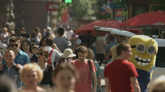 Stock Video Footage of 4K & HD res-n, Crowd at the street, daytime