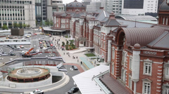 View of Tokyo station, Tokyo, Japan Stock Footage