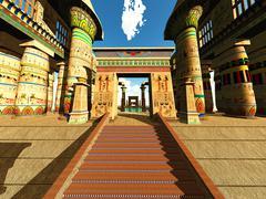 Stock Illustration of Egyptian temple