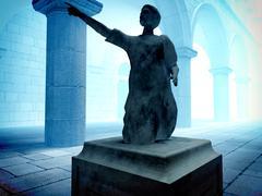 Roman statue of senator Stock Illustration