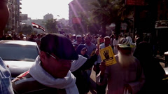 Pro-Morsi Supporters March in Maadi - stock footage