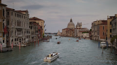 WS Boat traffic on Grand Canal / Venice,Veneto,Italy Stock Footage