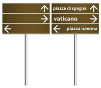 italy rome italy city signboard template - stock illustration