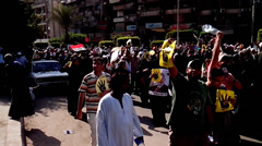 Stock Video Footage of Anti-Coup March in Maadi