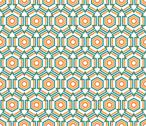 Stock Illustration of hexagon linear pattern