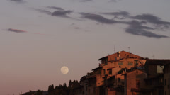 MS Ponte Vecchio at dusk / Florence,Tuscany,Italy - stock footage