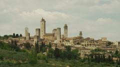 WS PAN View of San Gimignano / Tuscany,Italy Stock Footage