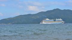 Cruise liner in Marmaris bay Stock Footage