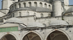 MS TU Blue Mosque / Istanbul,Turkey Stock Footage