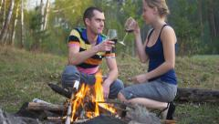 Young couple outdoors Stock Footage
