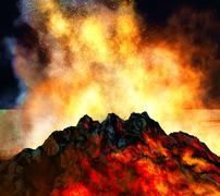Volcanic eruption Stock Illustration