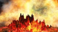 Stock Illustration of Volcanic eruption