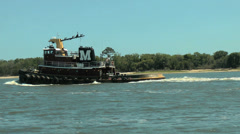 Tugboat crusing Stock Footage