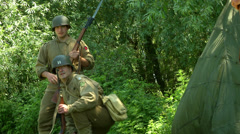 US infantry troops Normandy 01 Stock Footage