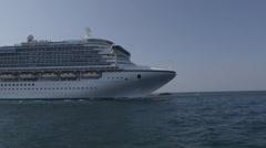 Caribbean Princess Cruise Ship 1 4:2:2 Stock Footage