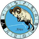 Aries zodiac Stock Illustration