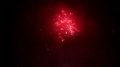 Firework at night Stock Footage