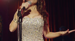 MS TU Singer performing on stage / Provo, Utah, USA Stock Footage