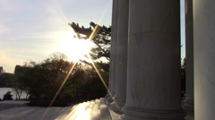 Dawn on Jefferson Memorial Stock Footage