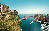 Stock Photo of view of fontvieille. principality of monaco