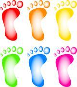 Foot Print Clip Art - stock illustration