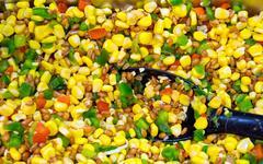 Corn and paprika salad Stock Photos