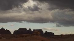 WS Desert landscape / Lake Powell, Utah, USA Stock Footage