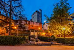 Town of serralunga d'alba. Stock Photos