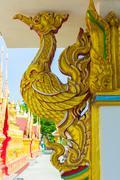 Golden swan statue  thai art Stock Photos