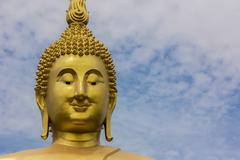 The face Buddha - stock photo