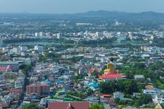 Beautiful view of the city of nakhon sawan province, thailand Stock Photos