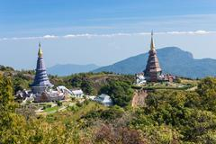 Place leisure travel, Doi Inthanon national park of Thailand Stock Photos