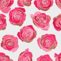 Stock Illustration of Traditional classic rose seamless pattern