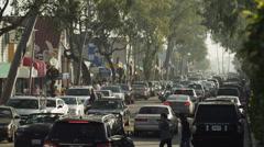 USA, California, Balboa Island, Newport Beach, Traffic on Balboa Island Stock Footage
