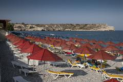 sea beach in greece - stock photo