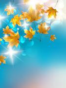Colorful autumn background. Stock Illustration