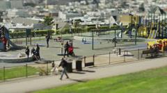 USA, California, San Francisco, People in Alta Plaza Park Stock Footage