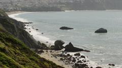 USA, California, San Francisco, High angle view of empty beach Stock Footage
