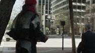 Stock Video Footage of USA, California, San Francisco, Homeless person asking for money