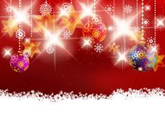 Christmas decoration on blur red Stock Illustration