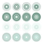 High quality rossete vector elements. Stock Illustration
