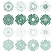 High quality rossete vector elements. - stock illustration