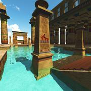 Egyptian temple - stock illustration