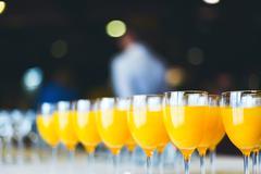 Fresh orange juice. catering drinks. Stock Photos