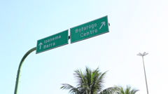 Streetsign Botafogo, Ipanema, Rio de Janeiro, Brazil Stock Footage